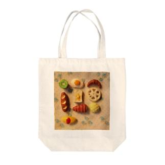 粘土の食べ物 Tote bags