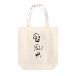 象とクラゲとゾウクラゲ  Tote bags