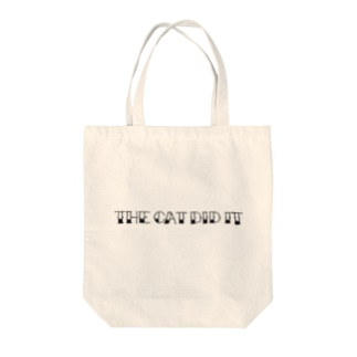 THE CAT DID IT Tote bags