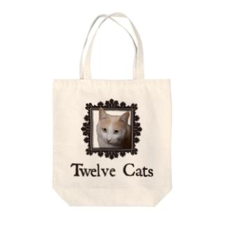 カフェラテ色の猫 Tote bags