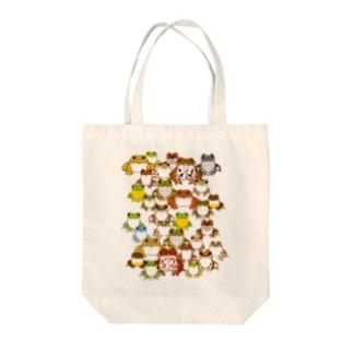 みのじの日本のカエル Tote bags