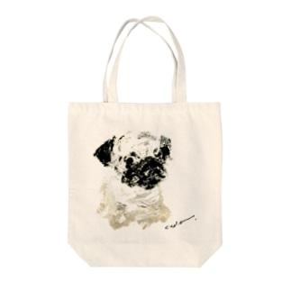 pug_x Tote bags