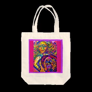 キシモト画伯のキシモトブランドの本音と建前っていう絵です~ Tote bags