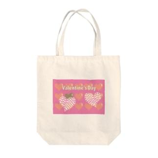 バレンタインのハートのかわいいイラスト Tote bags