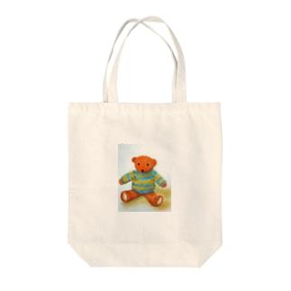 きょとんクマちゃん Tote bags