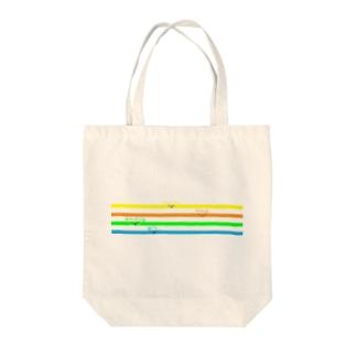 シロクマどんのカットイン集合 Tote bags