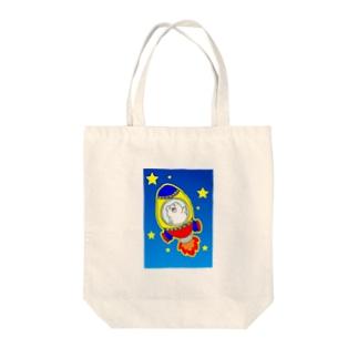 シロクマどん Tote bags