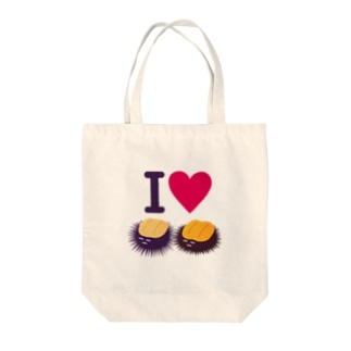 I Love ウニ Tote bags