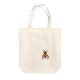 いたずらデザイン(ちょっとスズメバチついてますよ) Tote bags