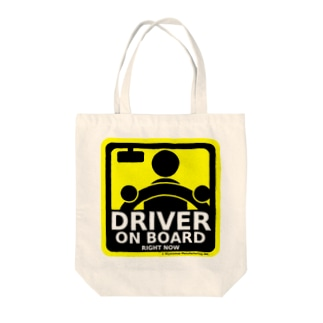 DRIVER ON BOARD Tote bags