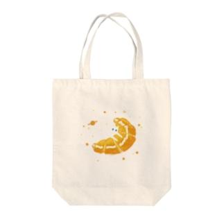 猫とクロワッサン Tote bags