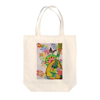 花とマンドリン Tote bags