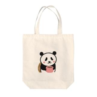 ボクパンダ「ゆっくり休んでね」 Tote bags
