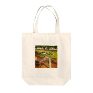 あごのせ奈良の鹿 Tote bags