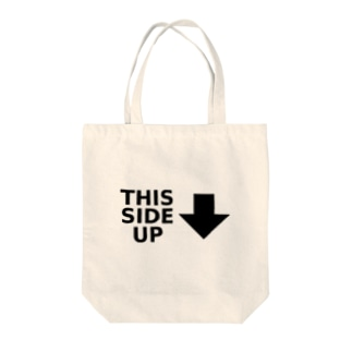 THIS SIDE UP Tote bags