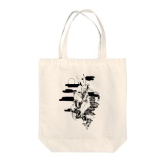 ウサギ神 Tote bags