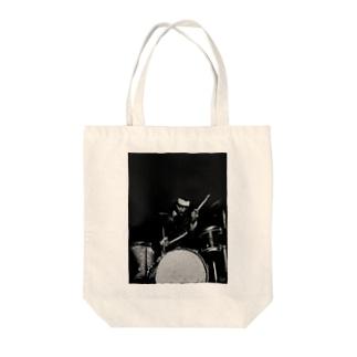 ジャズ・ドラム・プレイヤー Tote bags