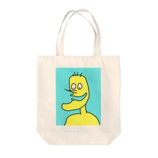 しゃくれ Tote bags