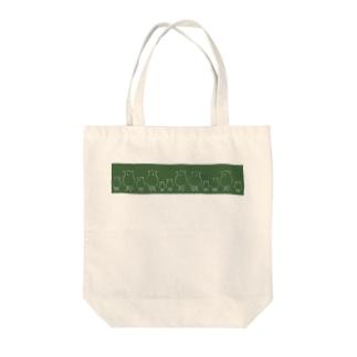 羊の大家族-グリーン- Tote bags