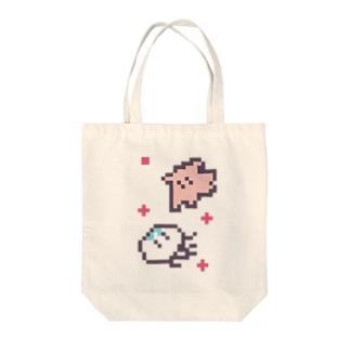 漂うクラゲとメンダコ Tote bags