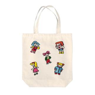 福田とおるのおしゃれちゃんズ Tote bags