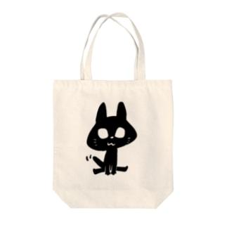 黒猫ジョバンニ Tote bags