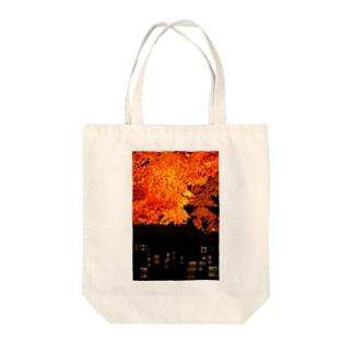 灯籠紅葉 Tote bags