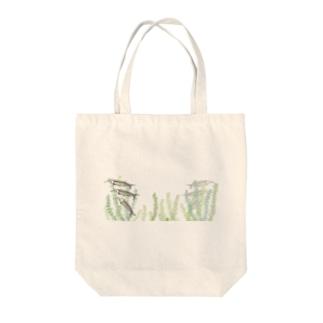 あっち向いてヒラヒラ~グラスキャットフィッシュ-Glass Catfish- Tote bags