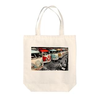 キャンピングカー Tote bags