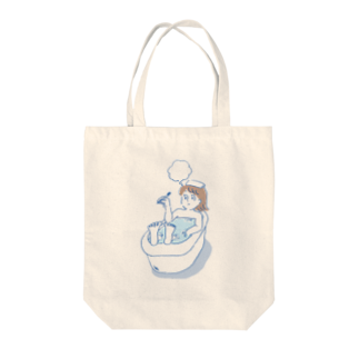 るるんのよりみちのバスタイム Tote bags