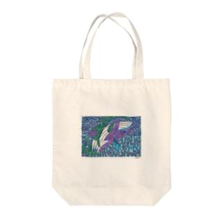 シロナガスクジラのダンス Tote bags
