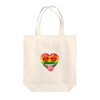 ハートちゃんの目がハート💕 Tote bags
