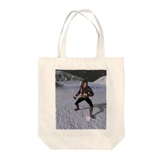 吹雪く戦闘 Tote bags