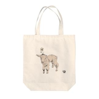 flower lamb Tote bags
