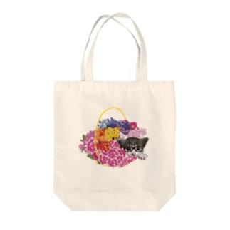 ねこちゃんシリーズ Tote bags