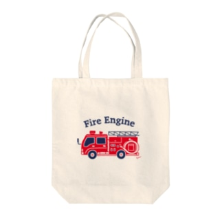 Fire Engine Tote bags