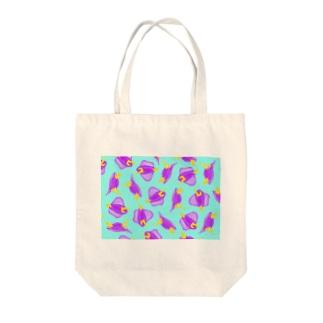 海雑貨制作*KASA*のムラサキウミコチョウがいっぱい Tote bags