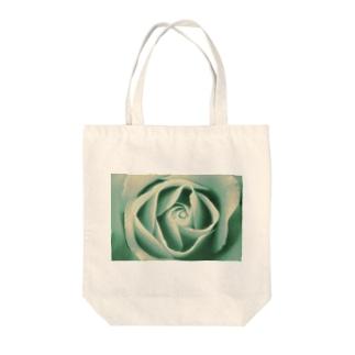 青い薔薇のトートバック Tote bags