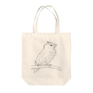 水浴び文鳥 Tote bags