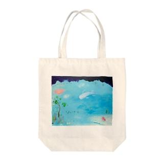 ムラナギ/水辺の朝 Tote bags