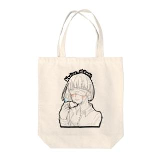 逃避少女(マスクver.)  Tote bags