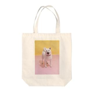 トートバッグ 白柴「ご機嫌♪」 Tote bags