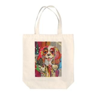 ピノココラージュ Tote bags