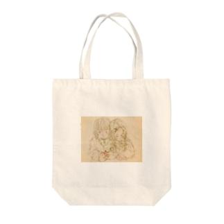 【眠り鶴】 Tote bags