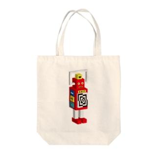 SUPER ROBOT MAKER Tote bags
