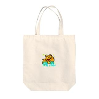 ココロのもりのココロちゃん(強風) Tote bags