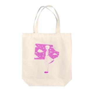 星の窓(ピンク) Tote bags