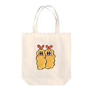 にじいろ☆うしゃぎのOSOZAI!!-オソーザイ!!-(エビ白) Tote bags