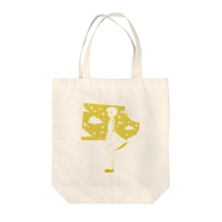 星の窓(イエロー) Tote bags