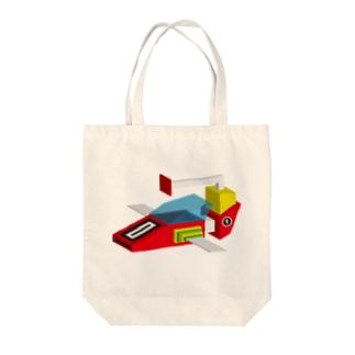 SUPER JET Tote bags